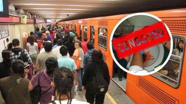 Filtran impactantes imágenes del aborto espontaneo de una mujer en el Metro