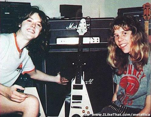 Lars Ulrich y James Hetfield hace 30 años atrás.