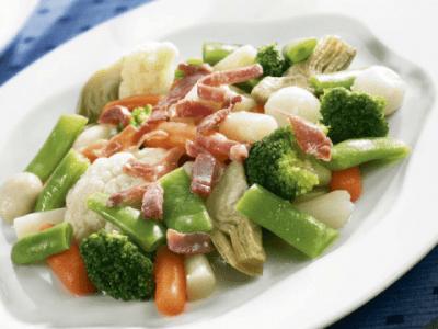 Verduras y hortalizas congeladas: crudas y platos preparados