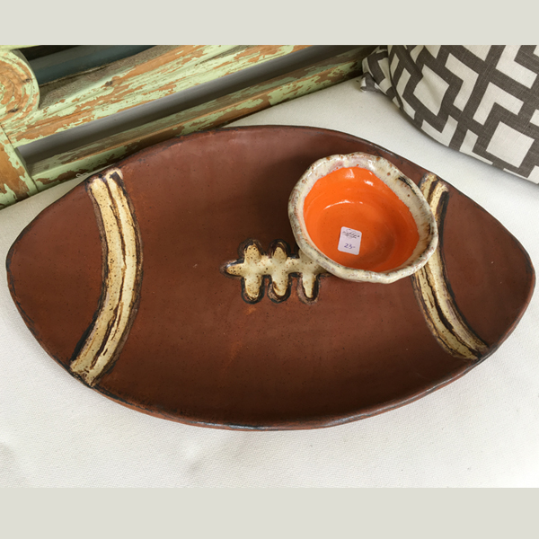 Etta B Football Platter