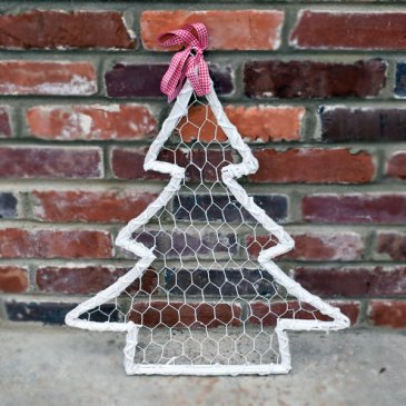 White Wire Tree Hanger