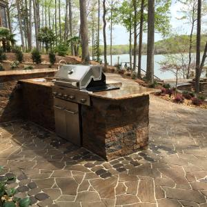 Outdoor Kitchen at the lake