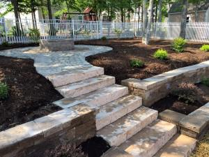 waxhaw steps - pavers, stone work, landscaping