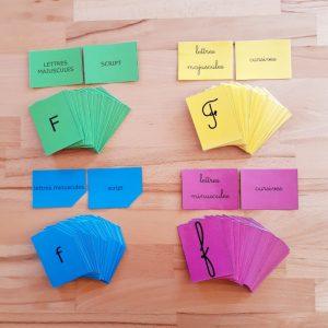 Alphabets d'association Montessori