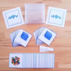 Solides géométriques Montessori : cartes de nomenclatures