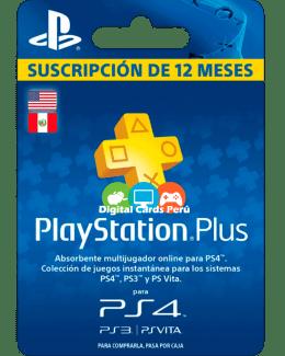 Tarjeta Playstation Plus 1 año
