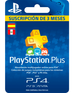 Tarjeta 3 meses Playstation Plus España
