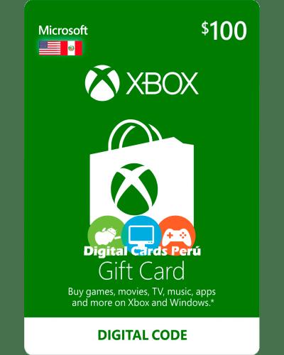 Tarjeta Xbox Live 100 dolares para cuenta americana