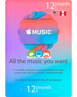 Membresia Apple Music 12 Meses cuenta americana