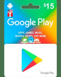 Google Play 15 dolares cuenta americana