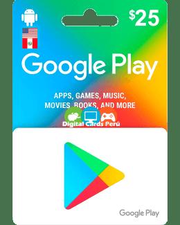 Google Play 25 dolares cuenta americana