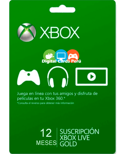 1 año Xbox Gold Peru