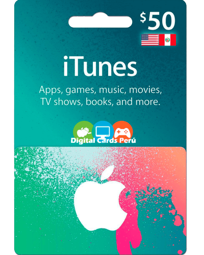 iTunes 50 dolares cuenta americana