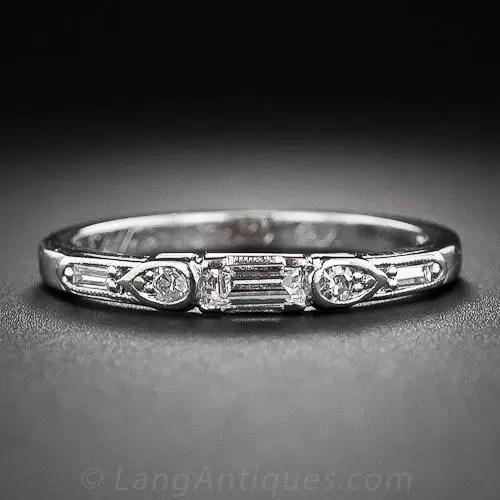 Art Deco Diamond Wedding Band