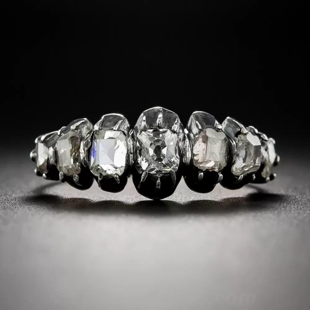 Georgian Seven Stone Diamond Ring Antique Amp Vintage