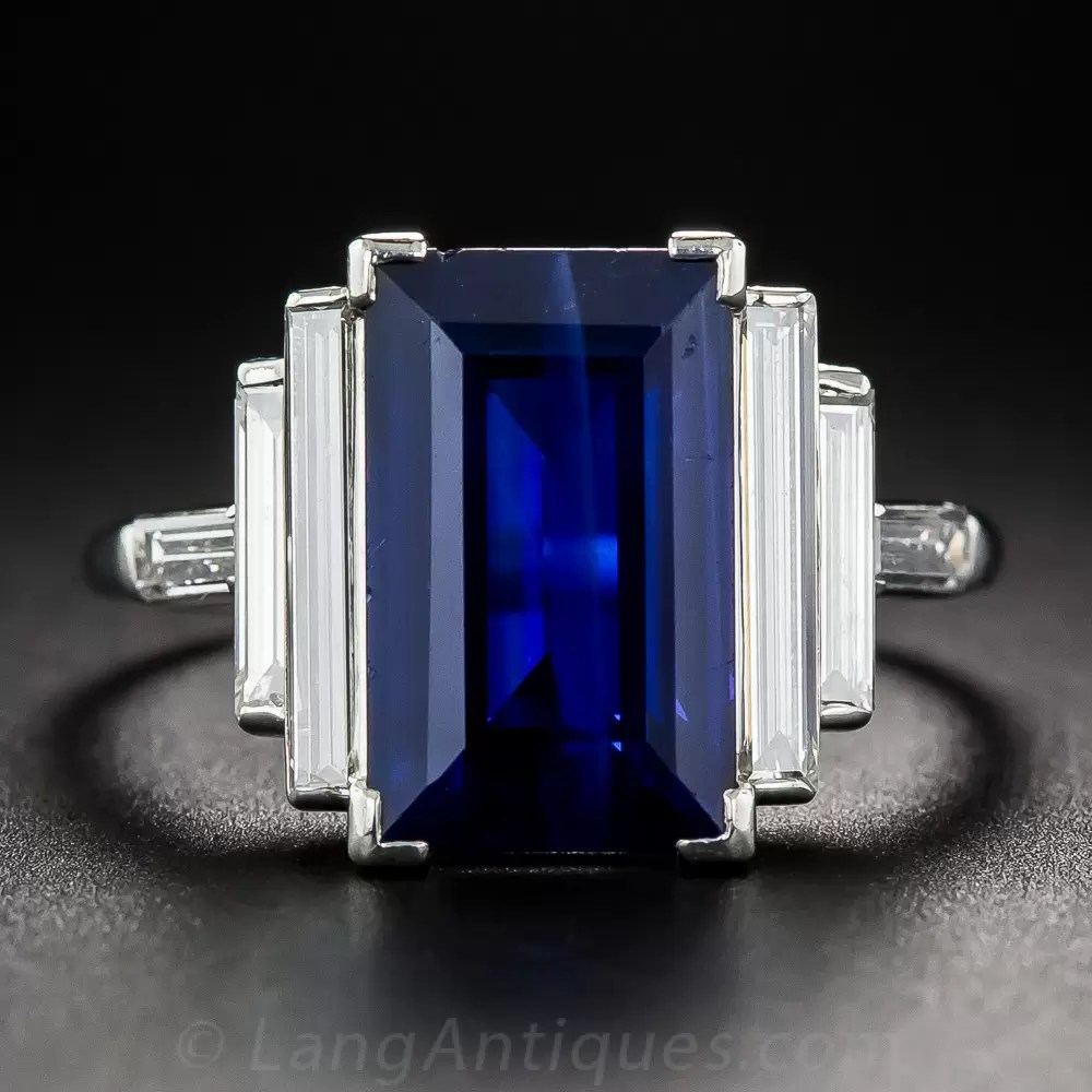 Natural 500 Carat Emerald Cut Sapphire And Long Baguette