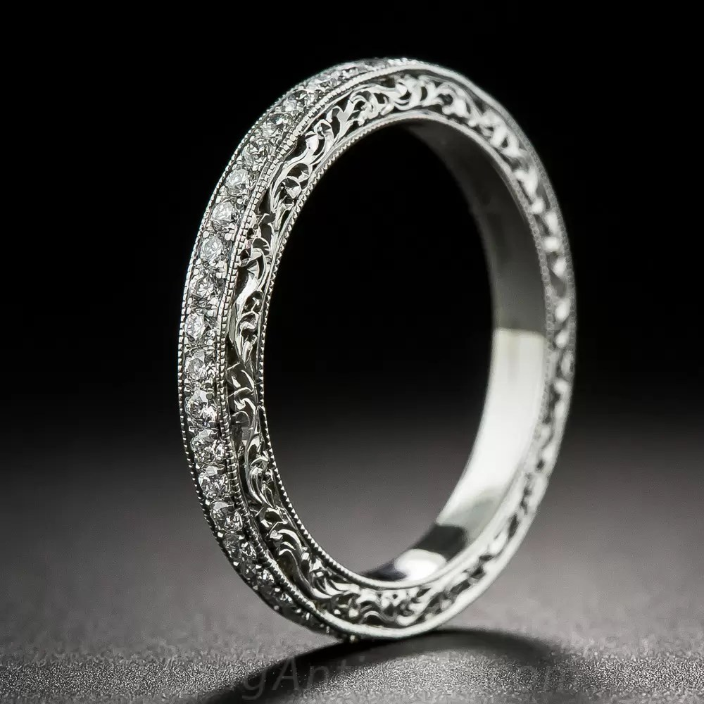 Vintage Style Platinum And Diamond Eternity Band Estate
