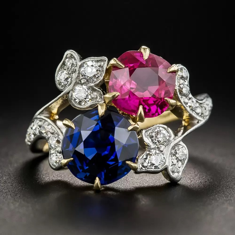 Edwardian Tiffany Amp Co Ruby And Sapphire Ring