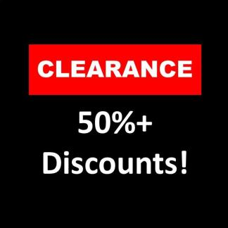 CLEARANCE - 50%+ Discounts