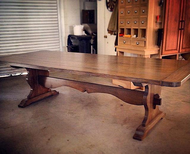 Solid Walnut Dining Room Table