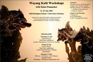 Wayang Workshops Flyer