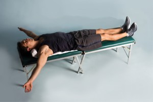 Lying Chest Stretch - Langer Chiropractic and Soft Tissue Therapy
