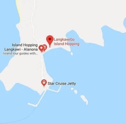 Island Hopping Langkawi Map