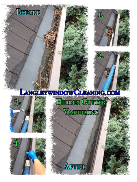 Stages of Gutter Vacuuming