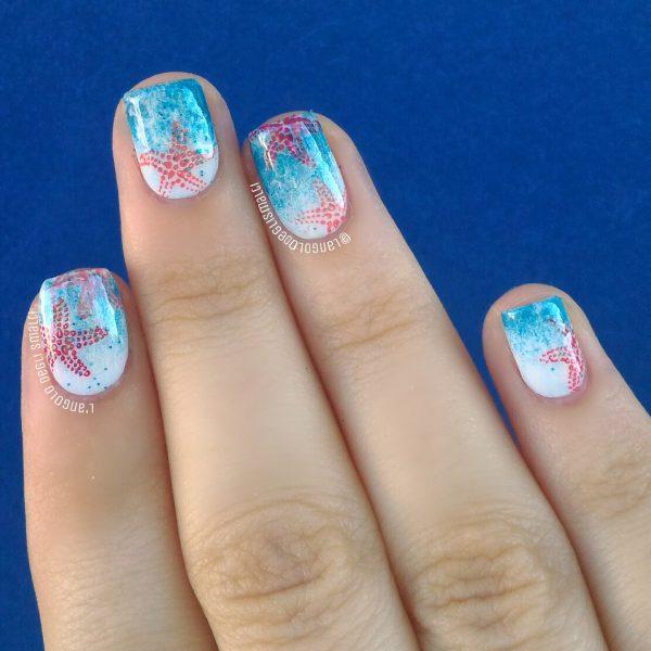 Starfish Nail Art Langolo Degli Smalti In English
