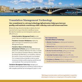 Translation Management Technology