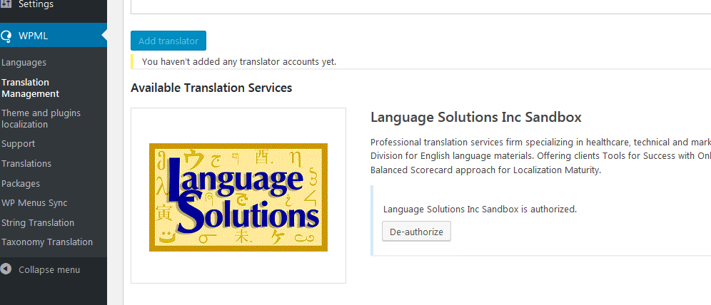 WPML integration for WordPress Translation
