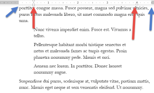 image showing text falling out of margin in translation preparation