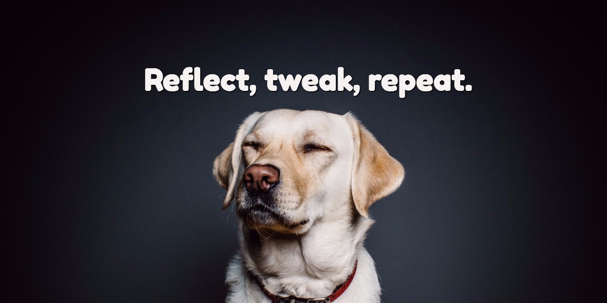 Reflection, tweak, repeat.