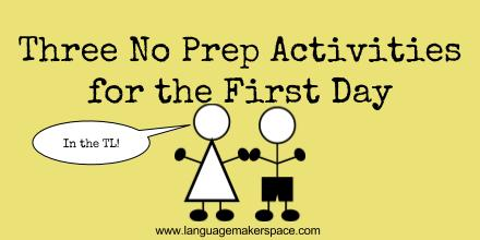 Three No Prep Activities for the First Day