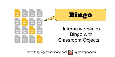Bingo with Classroom Objects