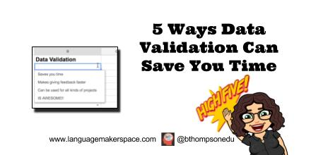 Data Validation Saves You Time