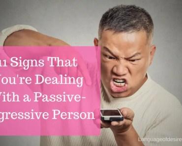 Passive agressive person
