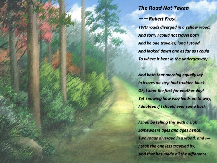 symbolism in robert frost s poem the road not taken co the road not taken robert frost essay poems by