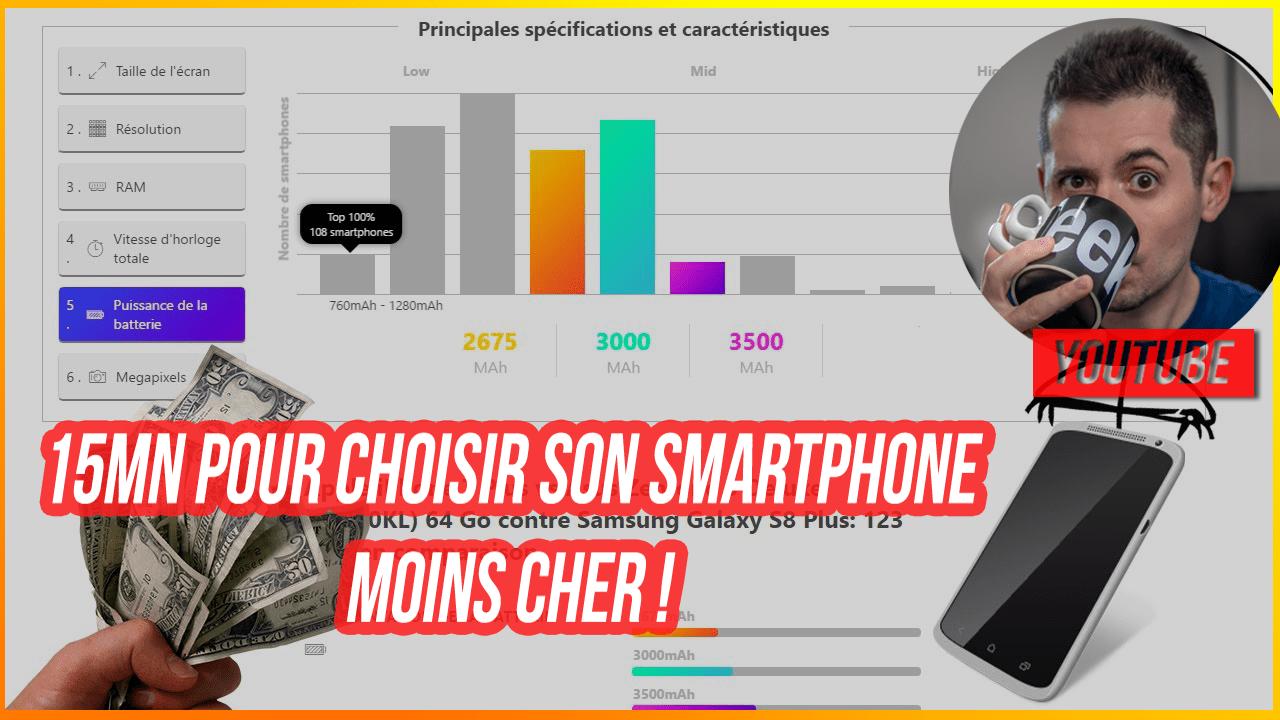15 mn pour choisir son smartphone pas cher ! Bons plans et comparateurs de caractéristiques