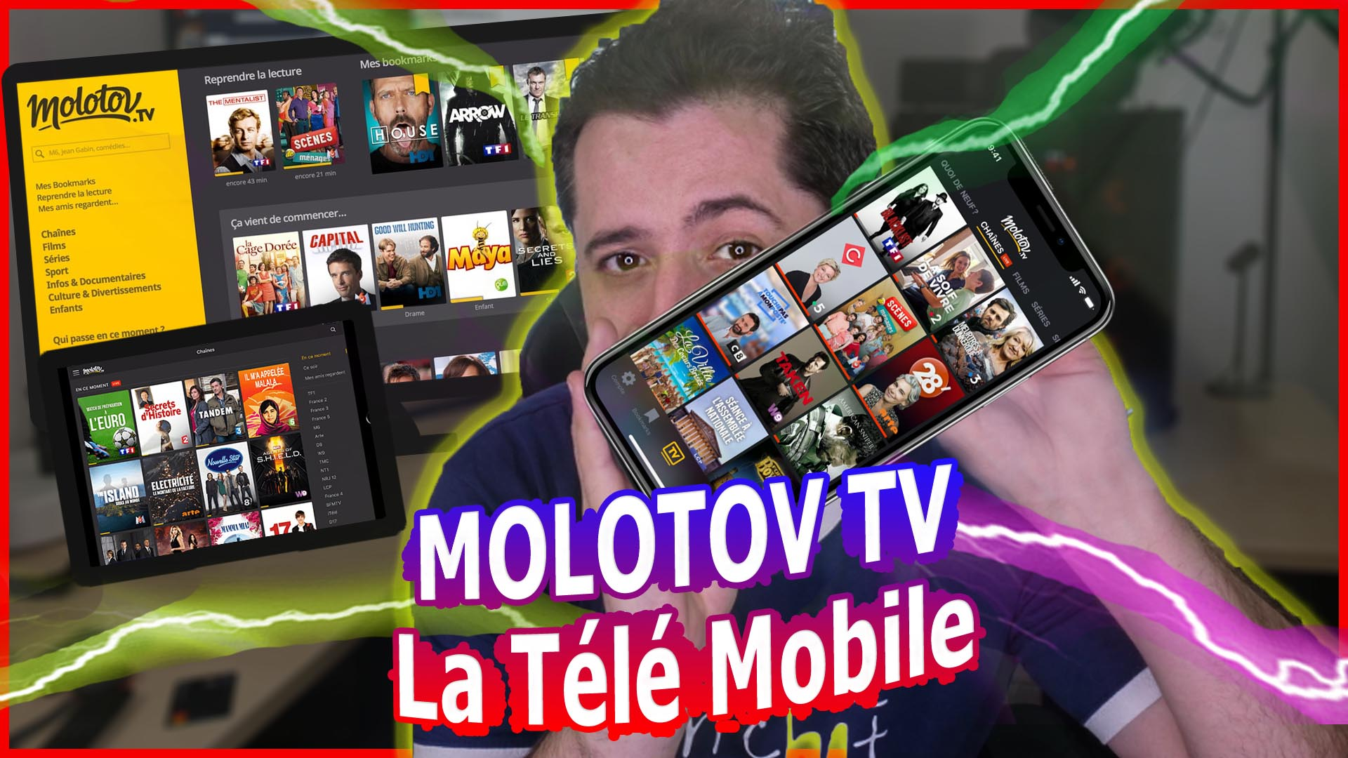 La TV du futur : Application Molotov TV pour Android Iphone Windows … Replay VoD retour à 0