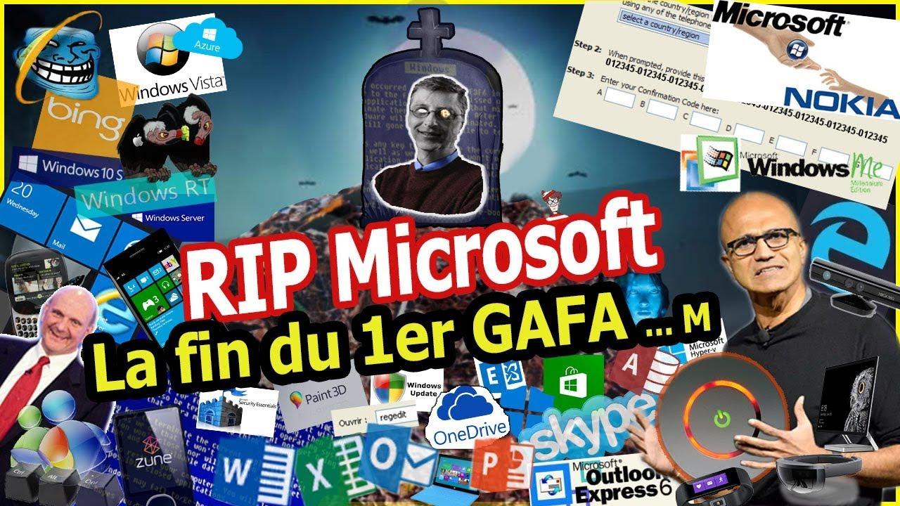 Microsoft : la fin du premier GAFAm #windows #nokia #windowsphone #XboxOneX #RGPD #WindowsUpdate