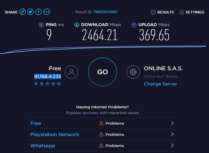 speedtest freebox delta fibre 10gb