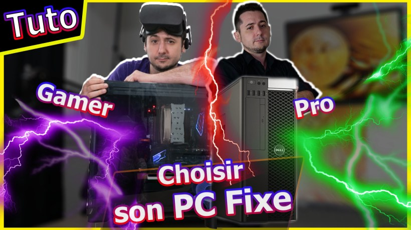 monter pc fixe pro gaming gamer carte graphique choisir