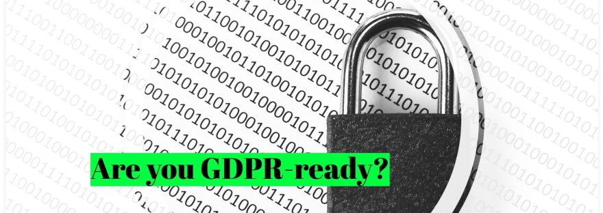 """Zeros and Ones with a Padlock and text """" Are You GDPR Ready?"""""""