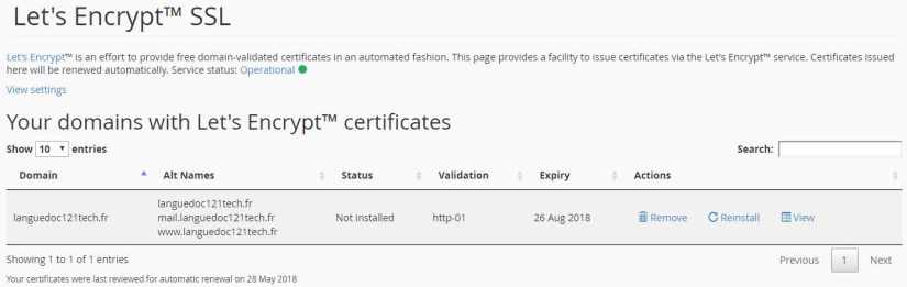 List of Domains with LetsEncrypt SSL Certificates