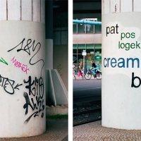 Graffiti-Tags mit sauberen Fonts ersetzen