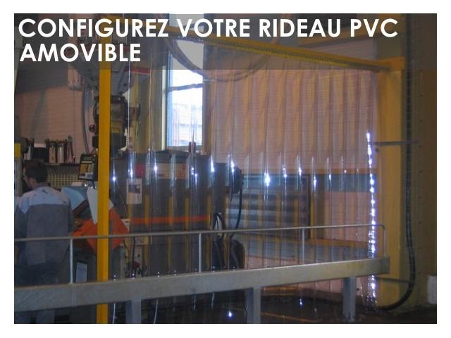 Rideau Laniere Pvc Fixe Sur Mesure