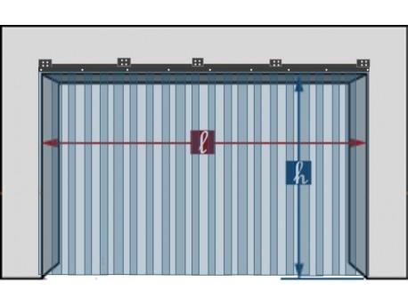 kit rideau a laniere pvc fixe hauteur de 2 00 m a 2 80