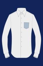 Chemise avec une poche en pointe