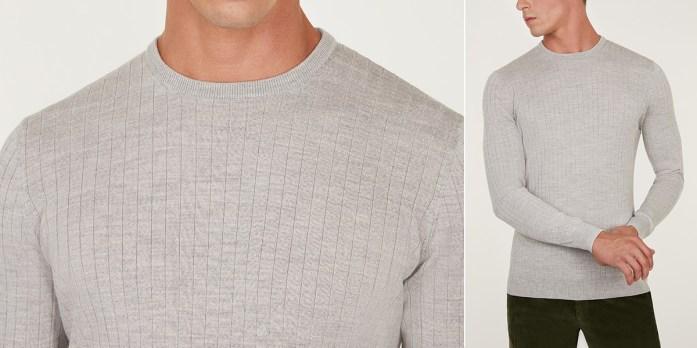 Maglione grigio girocollo